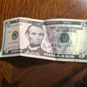 Rare 5 dollar bill